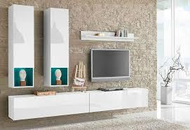 wohnwand weiß hochglanz otto wohnzimmer schrank regal tv möbel