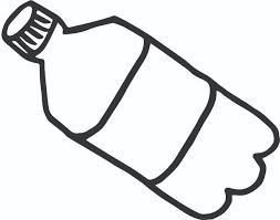 Bottled water plastic water bottle black and white klejonka clip art