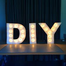 DIY Letter Lights YouTube