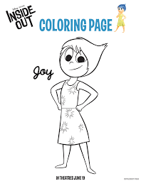 Here Are 6 Free Printable Inside Out Coloring Pages So You Can Begin Getting Familiar With The Characters And Emotions They Represent