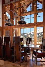 Rustic Dining Room Lighting Simple Ideas Chandeliers Inspiring Design