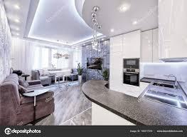 100 Luxury Apartment Design Interiors Modern Design Interior Room With White Gloss Kitchen In A Luxury