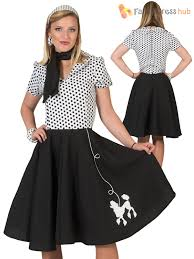 Ladies Poodle Swing Costume Adults 50s 60s Rock