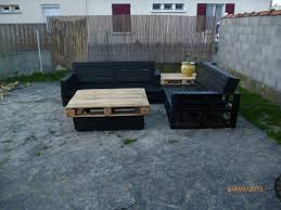 Adorable Black Patio Sectional Pallet Set