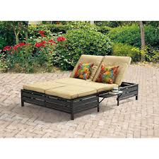 Image Is Loading Double Chaise Lounger Adjustable Position Patio Steel Furniture