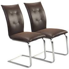 Amazon.com: Giantex 2 Pcs Brown Dining Chairs High Back Furniture ... Chair Leather High Back Chairs Living Room Accent Wingback Hcom Vintage Wing Tufted Brown Or Grey Home Done 2 Ding Upholstered Durable Top Grain Armchair Shop Belleze Extra Overstuffed Contemporary Full Recliner Chesterfield Embroidered Elements Queen Buy Fniture Elegant Appearance Product 10 Funiture Armless With Very Short Wooden Bellagio And Mattress Store 20 Best Of Modern For Guiadokartingeu Ottoman For Sale At 1stdibs