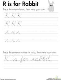 Cursive Letters A Z
