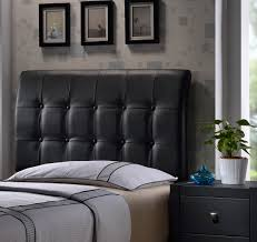 Black Leather Headboard Single by Surprising Bedroom On Black Faux Leather Headboard Single 143 Ic