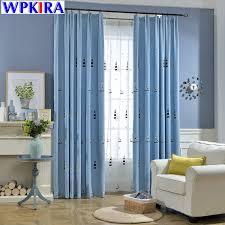 segelboot gemusterten kinder vorhang schlafzimmer blackout vorhang für kinder vorhänge für wohnzimmer blau fenster vorhänge wp301h