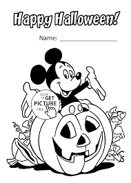 Halloween And Mickey Mouse Coloring Page For Kids Printable Free