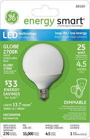 Led Desk Lamp Walmart Canada by Ge Lighting 68169 Energy Smart Led 4 5 Watt 25 Watt Replacement