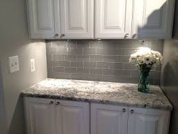 picture 11 of 35 gray subway tile kitchen luxury grey glass