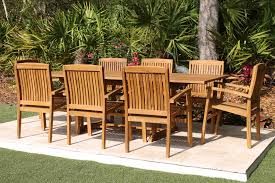 Pacific Bay Patio Chairs by Sale 95in Rectangular Table U0026 8 Pacific Chairs Teak Set Oceanic
