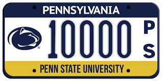 Penn State License Plates Your License to ROAR