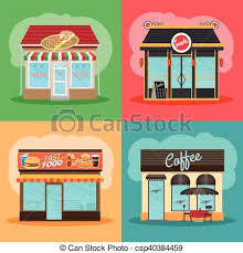 Restaurant Or Fast Food Store Front