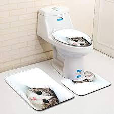 laogou schöne badezimmer matte dreiteilige badezimmer wc