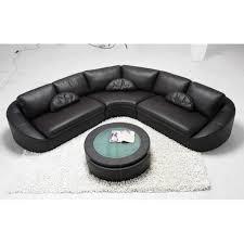 canapé angle polyuréthane canapé d angle en cuir noir arrondi achat vente canapé sofa