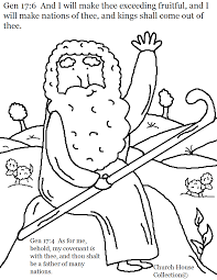 Week Song Craft Abraham Father Of Many Nations Coloring Page Genesis And For Kids In Sunday School Or Childrens Church