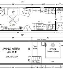 Cottage Style House Plan 2 Beds 100 Baths 704 Sq ft 12X36 Floor