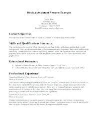 General Resume Examples 2017 Together With Top Rated Medical Assistant Example Objective