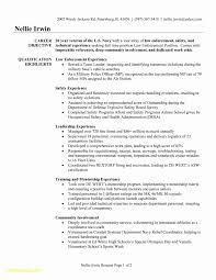Military To Civilian Resume Examples Luxury 23 Experience Free Sample