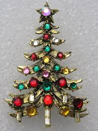 Vintage 1960s HollyCraft Christmas Tree Pin By JimRabun On Etsy