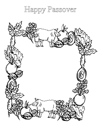 Passover Coloring Pages Seder Plate Printable Colouring Sheets Feast
