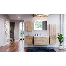 badmöbel set badezimmer rima 5 teilig sonoma eiche