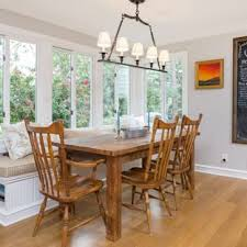 Inspiration For A Farmhouse Brown Floor And Medium Tone Wood Dining Room Remodel In Philadelphia