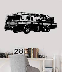 100 Fire Truck Wall Decals Vinyl Decal Engine Truck Boys Room Stickers