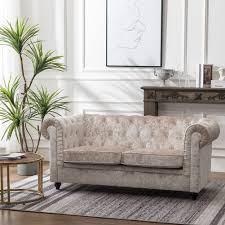 100 2 Sofa Living Room Details About Upholstered Seater Accent Crushed Velvet Scroll Back Settee