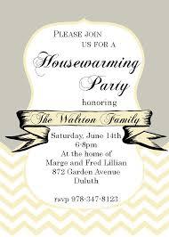 Chevron And Ribbon Housewarming Party Invitations