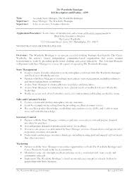 Resume Retail Assistant Sale Resumes Co Manager Responsibilities Sample