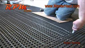 radiant floor heating cost to operate heated floors installation