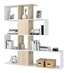 piushopping bücherregal regal wohnwand cm 145hx145 x 29 eiche und weiß design wohnkultur wohnzimmer esszimmer möbel