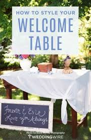 Welcome Table With Family Wedding Photos Parents Grandparents Great