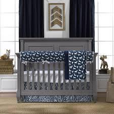 Arrow Crib Bedding by Navy Woodland Bumperless Crib Bedding Liz And Roo