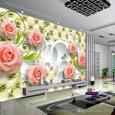 Custom Any Size Photo Wallpaper 3d Wall Decor For Living Room Modern Simple And Stylish Rose Painting Mural Wallpapers Kitchen Landscape