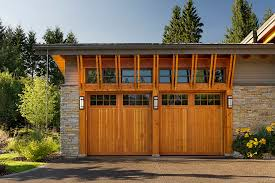 Craftsman Style Garage Doors And Shed Rustic With Brackets Chain Down Spout Image By Site Lines Architecture Inc