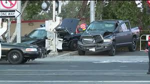Police Cruiser Collides With A Pickup Truck On 16th Street | FOX40