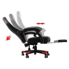 Reclining Gaming Chair With Footrest by Mophorn High Back Reclining Chair 360 Degree Swivel Racing Chair