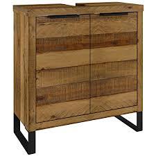 woodkings waschbeckenunterschrank sydney massiv holz schmal badmöbel badezimmer klein badezimmerschrank badschrank bad unterschrank massivholz mit
