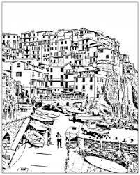 Coloring Page Italy Cinque Terre