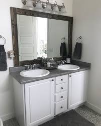 20+ Beautiful Bathroom Mirror Ideas To Shake Up Your Morning ... 21 Bathroom Mirror Ideas To Inspire Your Home Refresh Colonial 38 Reflect Style Freshome Amazing Master Frame Lowes Bath Argos Sink For 30 Most Fine Custom Frames Picture Large Mirrors 25 Best A Small How Builders Grade Before And After Via Garage Wall Sconces Framing A Big Of With Diy Reason Why You Shouldnt Demolish Old Barn Just Yet Kpea Hgtv Antique Round The Super Real