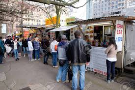 PORTLAND, OR - FEBRUARY 27, 2016: People Lined Up For Lunch At ... Home Oregon Food Trucks Whos In The Food Truck Fleet Portland Press Herald Is Cart City 3 Carts Not To Miss Marc Stock Photo Getty Images The Blueberry Files Two New Churros Locos Roaming Hunger Cycling Part 2 And Specialty Shops Bikes Guide To Youtube These Are 19 Hottest Mapped Bucket Walking Tours Youll Love Pinterest Travel Portlands Best Indian Noise Color Pdx