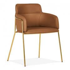 braun kunstleder harriet esszimmetstuhl moderne stühle