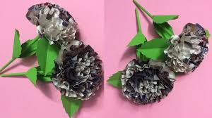 How To Make Beautiful Flower With Newspaper