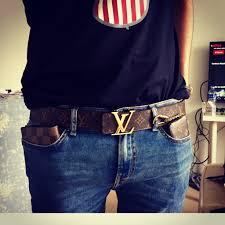 unboxing louis vuitton monogram style canvas belt with gold buckle