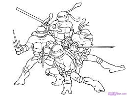 Amazing Ninja Turtles Coloring Pages 95 With Additional Online