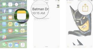 How to share save and print in Notes on iPhone and iPad